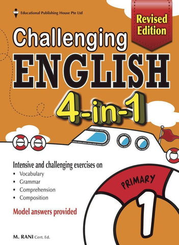 Challenging English 4-in-1 Primary 1 - Singapore Books