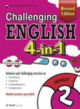 Challenging English 4-in-1 Primary 2 - Singapore Books