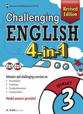 Challenging English 4-in-1 Primay 3 - singapore-books