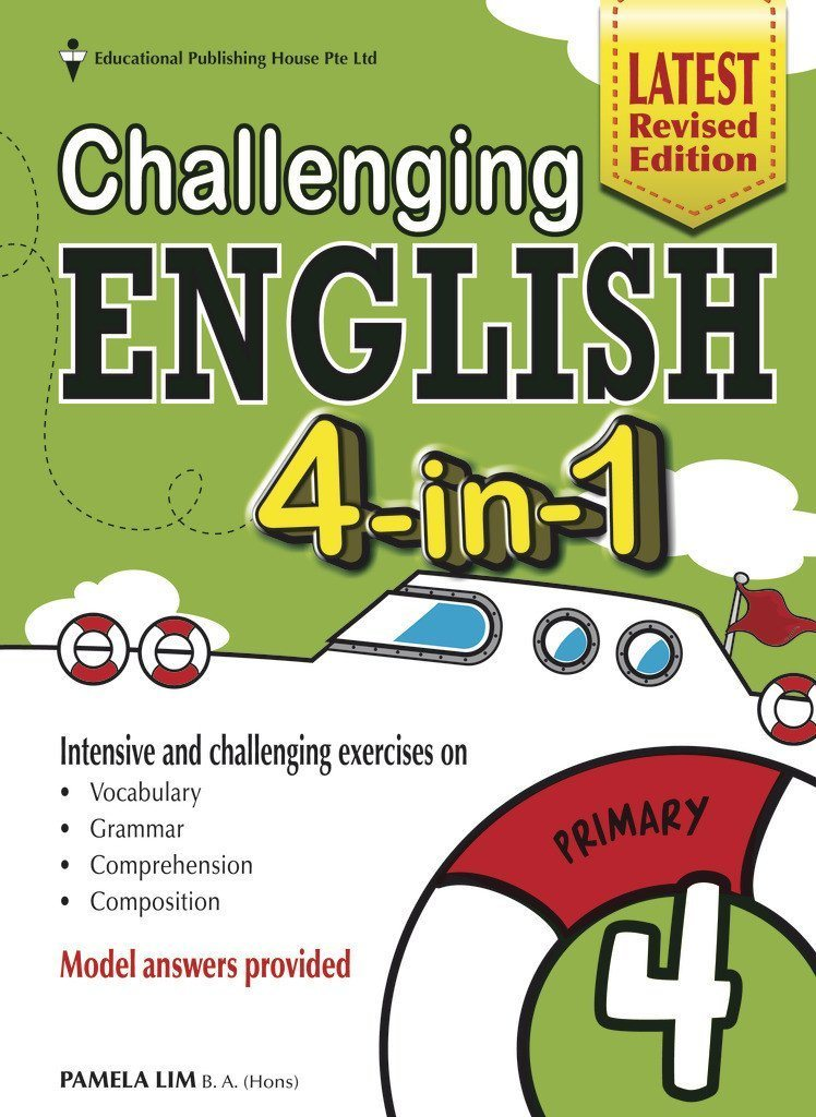Challenging English 4-in-1 Primary 4 – Singapore Books