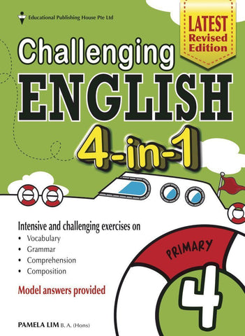 Challenging English 4-in-1 Primary 4 - Singapore Books