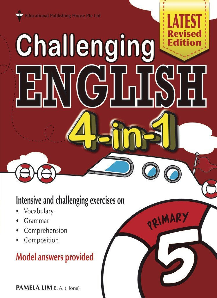 Challenging English 4-in-1 Primary 5 - Singapore Books