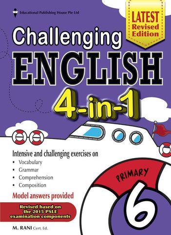 Challenging English 4-in-1 Primary 6 - Singapore Books