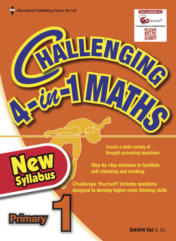 Challenging 4-in-1 Maths Primary 1 - Singapore Books