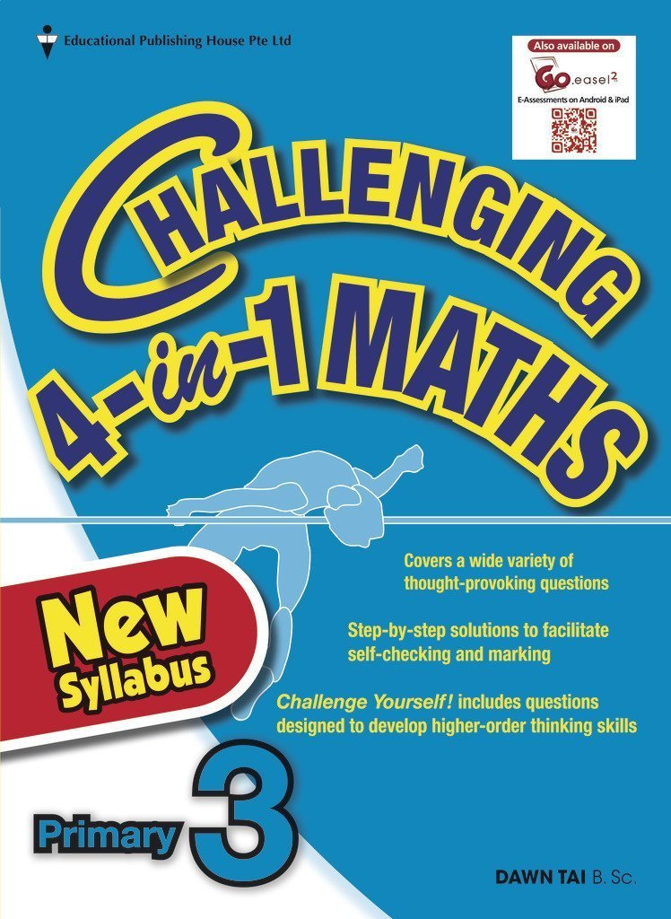 Challenging 4-in-1 Maths Primary 3 - Singapore Books