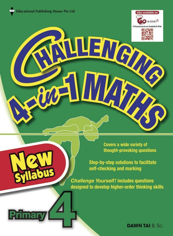 Challenging 4-in-1 Maths Primary 4 - Singapore Books