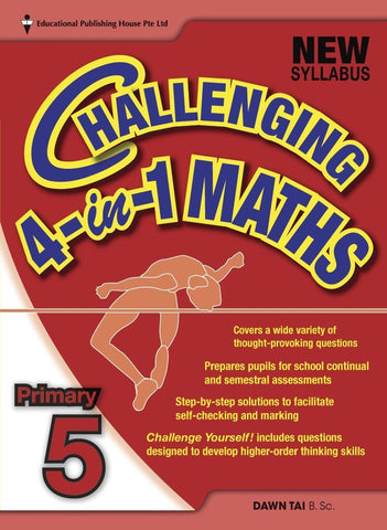 Challenging 4-in-1 Maths Primary 5 - Singapore Books