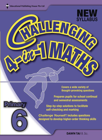 Challenging 4-in-1 Maths Primary 6 - singapore-books