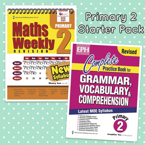 Starter Pack Primary 2 Maths & English - Singapore Books
