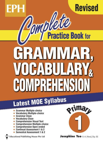 Complete Practice Book for Grammar, Vocabulary & Comprehension Primary 1 - singapore-books