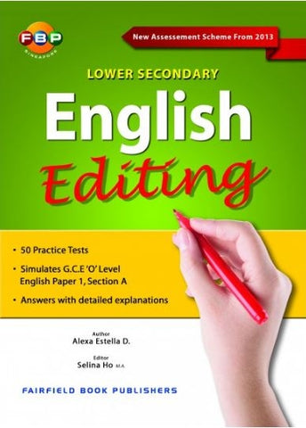 Lower Secondary English Editing (Year 7 & 8) - Singapore Books