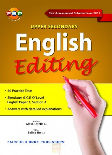 Upper Secondary English Editing (Year 9 & 10) - Singapore Books