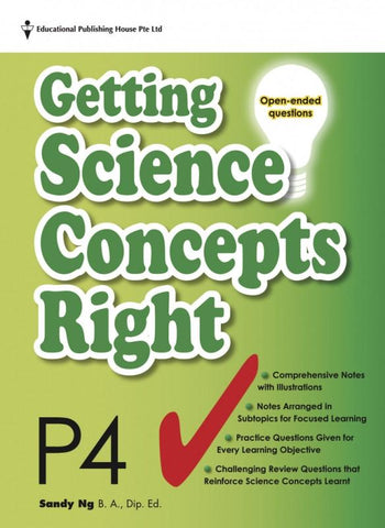 Getting Science Concepts Right (open-ended questions) Primary 4 - singapore-books