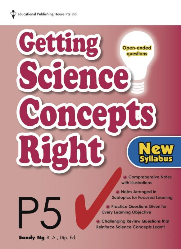 Getting Science Concepts Right (open-ended questions) Primary 5 - Singapore Books