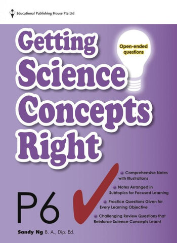Getting Science Concepts Right (open-ended questions) Primary 6 - singapore-books