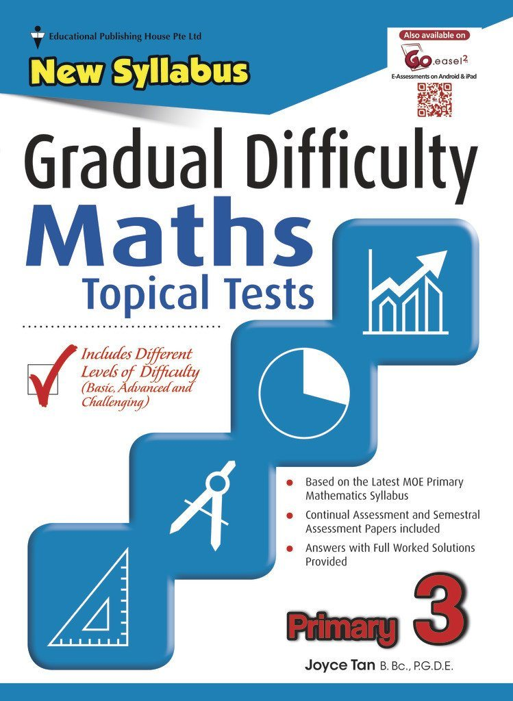 Gradual Difficulty Maths Topical Tests Primary 3 - Singapore Books