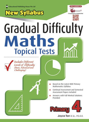 Gradual Difficulty Maths Topical Tests (New Syllabus) Primary 4 - singapore-books
