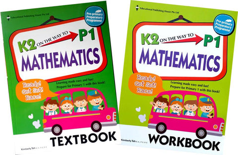 K2 on the way to Primary 1 Mathematics Textbook & Workbook set (Prep 6-7 years old) - Singapore Books