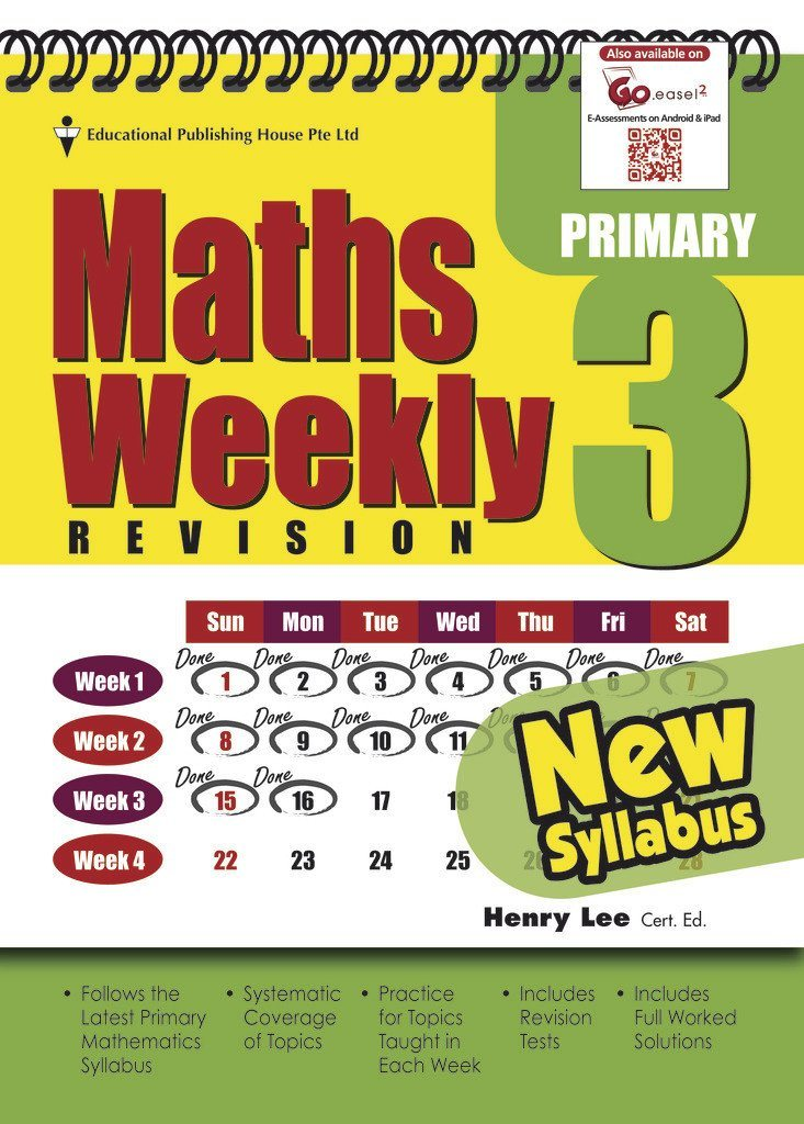 Maths Weekly Revision Primary 3 – Singapore Books