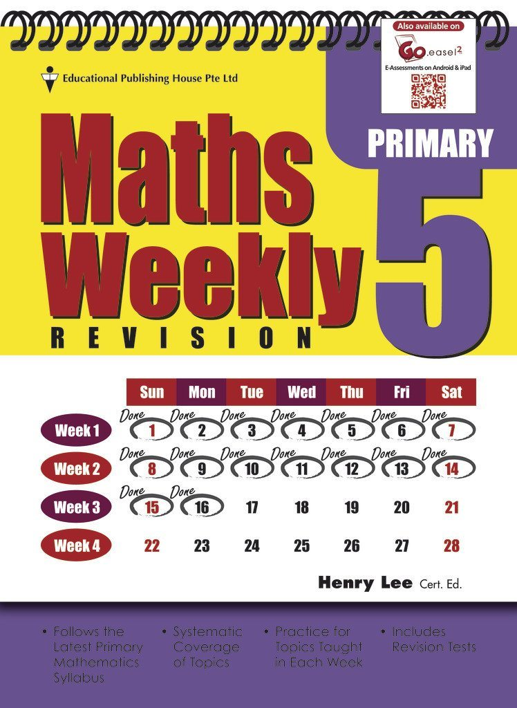 Maths Weekly Revision Primary 5 - singapore-books