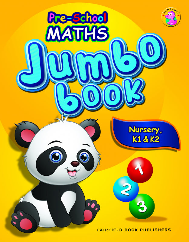Pre-School Maths Jumbo Book for Nursery, K1 & K2 (4-6 years old) - singapore-books