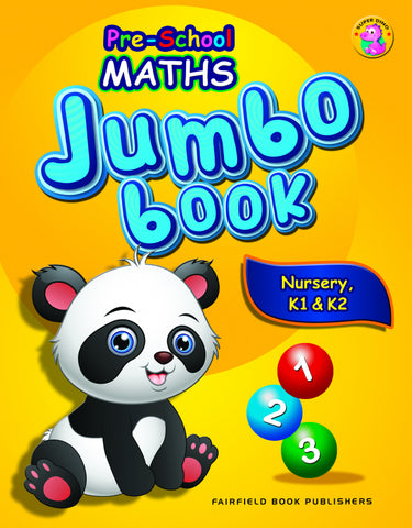 Pre-School Maths Jumbo Book for Nursery, K1 & K2 (4-6 years old) - Singapore Books