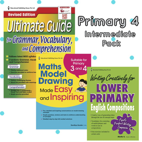 Intermediate Pack Primary 4 Maths, English & Writing - singapore-books