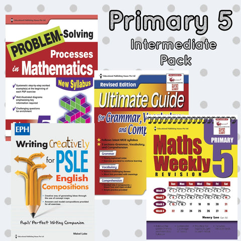 Intermediate Pack Primary 5 Maths, English & Writing - singapore-books