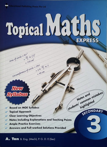 Topical Maths Secondary 3 (Year 9) - singapore-books