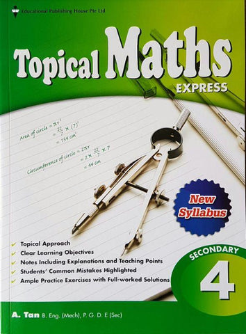 Topical Maths Secondary 4 (Year 10) - Singapore Books