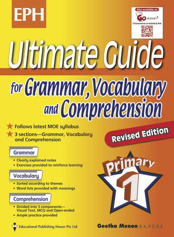 Ultimate Guide for Grammar, Vocabulary & Comprehension Primary 1 - Singapore Books