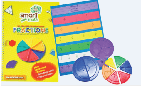 *LAST 2* Clearance - Smart Maths Fractions book & Manipulatives Set - singapore-books