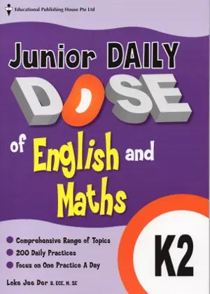 Junior Daily Dose of English and Mathematics K2 (Prep) - singapore-books
