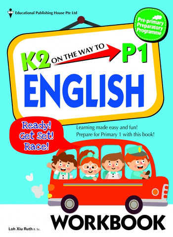 K2 on the way to Primary 1 English Textbook & Workbook set (Prep 6-7 years  old)