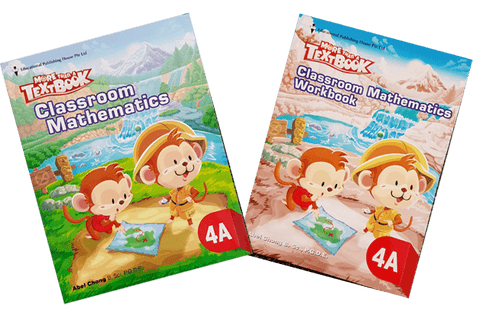 More than a textbook Maths Textbook & Workbook Primary 4A set - Singapore Books
