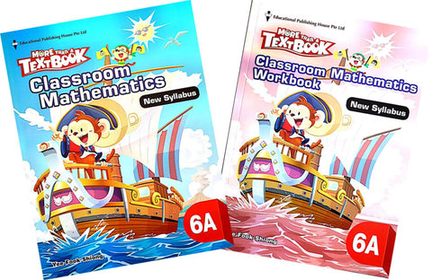 More than a textbook Maths Textbook & Workbook Primary 6A set - singapore-books
