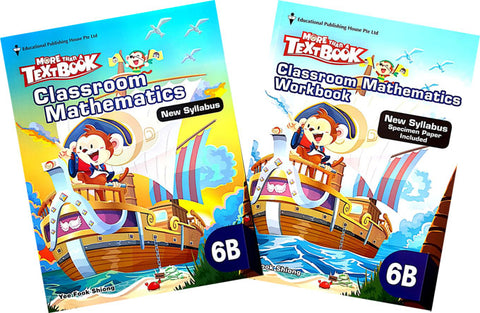 More than a textbook Maths Textbook & Workbook Primary 6B set - singapore-books