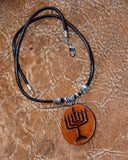 Judaica - Menorah Necklace