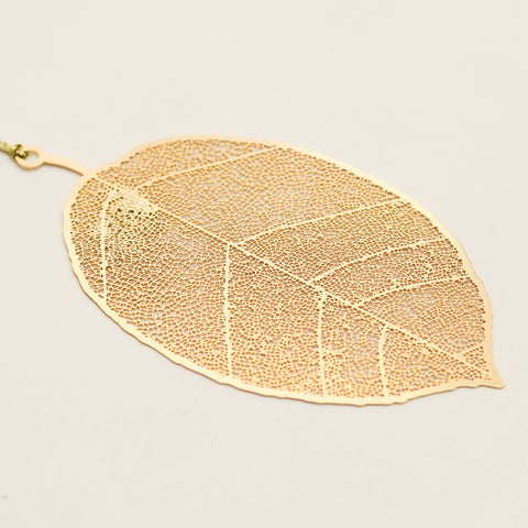 Leaf 24K Gold Plated - Metal Bookmark