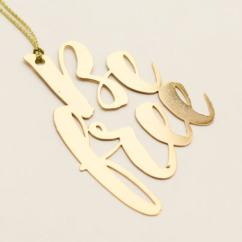 Be Free 24K Gold Plated - Metal Bookmark
