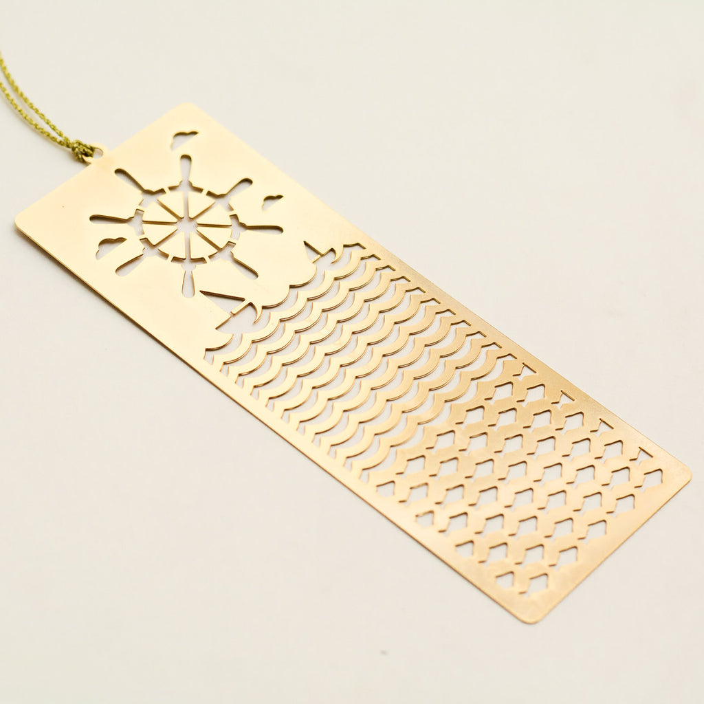 Nautical 24K Gold Plated - Metal Bookmark