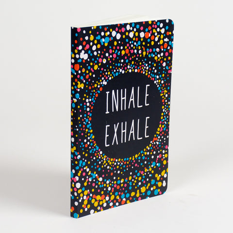 Inhale Exhale Vivid NoteBook