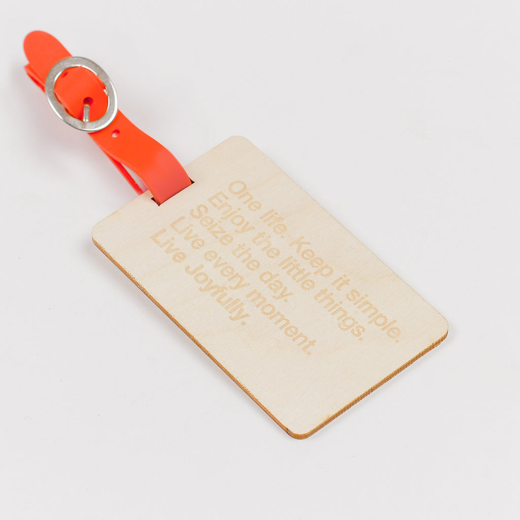 The Letternote Manifesto Wooden Luggage Tag