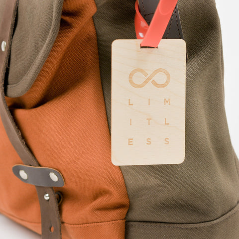 Limitless Wooden Luggage Tag