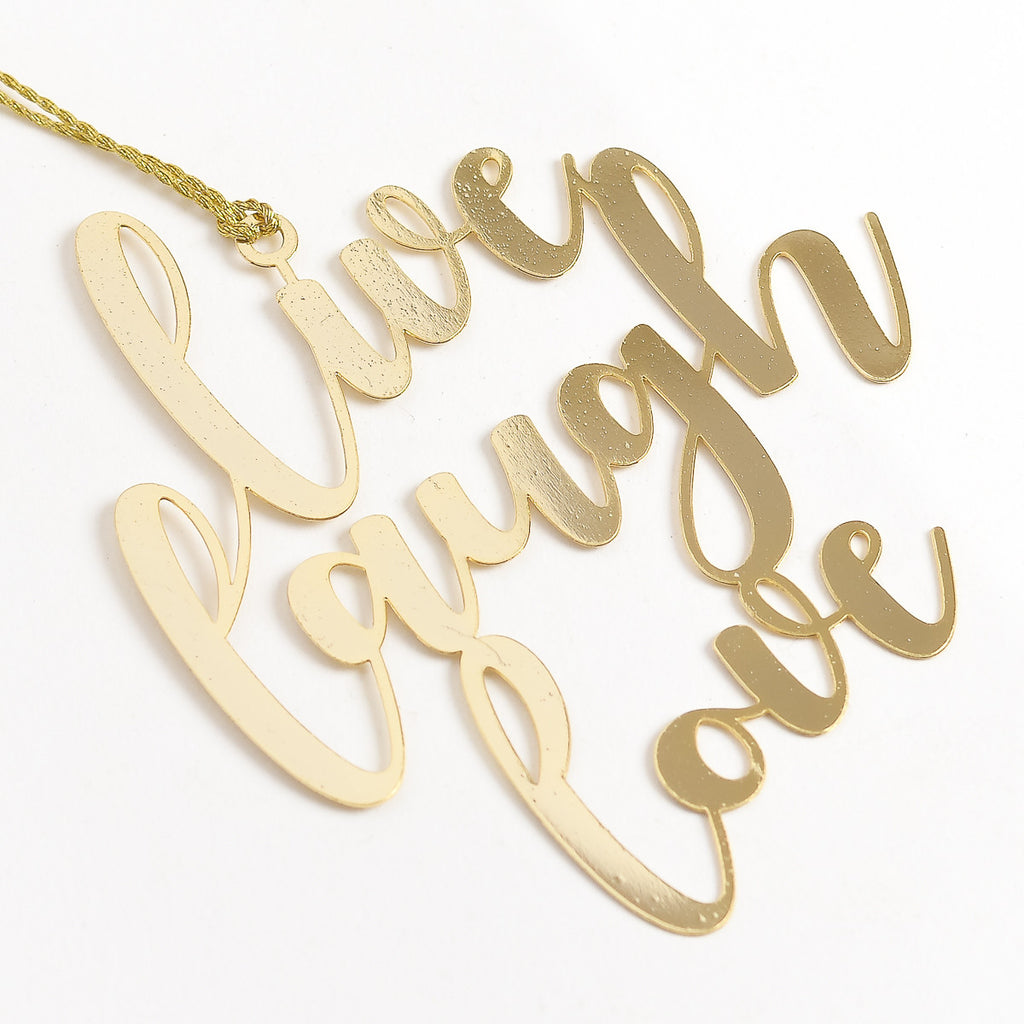 Live Laugh Love 24K Gold Plated - Metal Bookmark