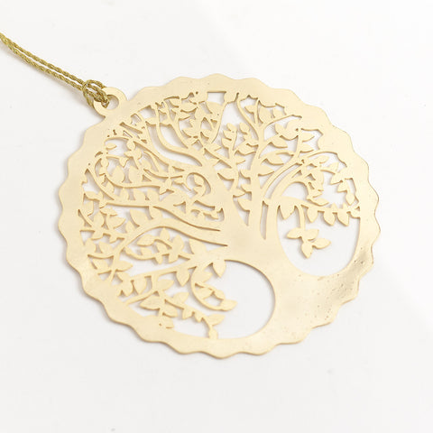 Tree Of Life 24K Gold Plated - Metal Bookmark