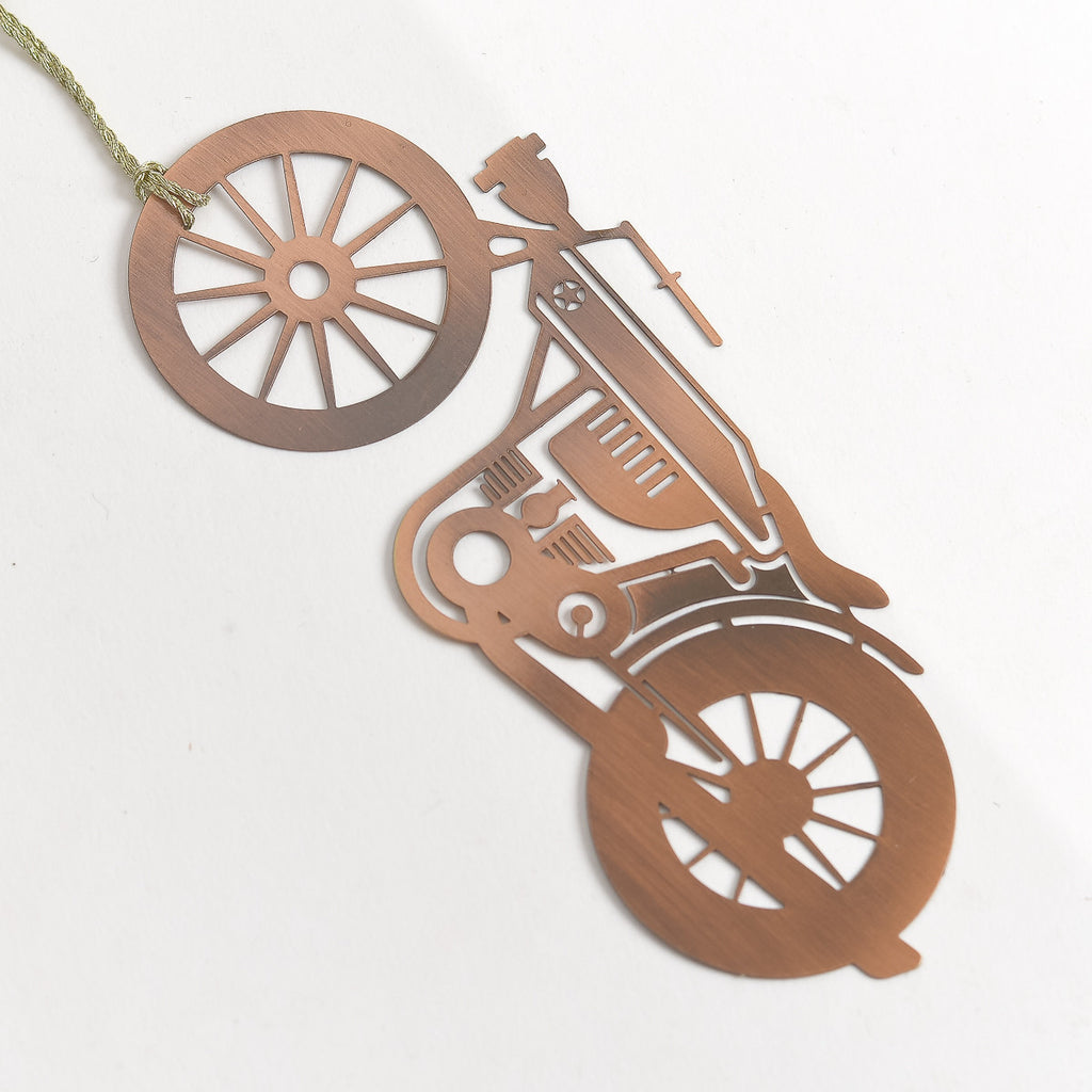 Motorcycle Copper - Metal Bookmark