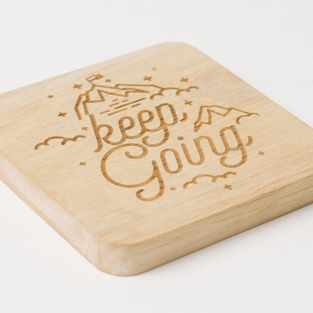 Keep Going Wooden Coaster