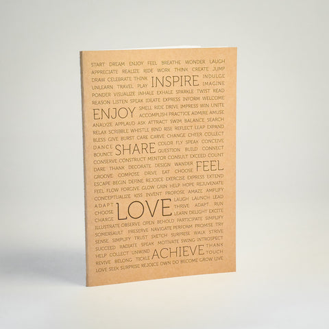 Life Mantras Kraft NoteBook