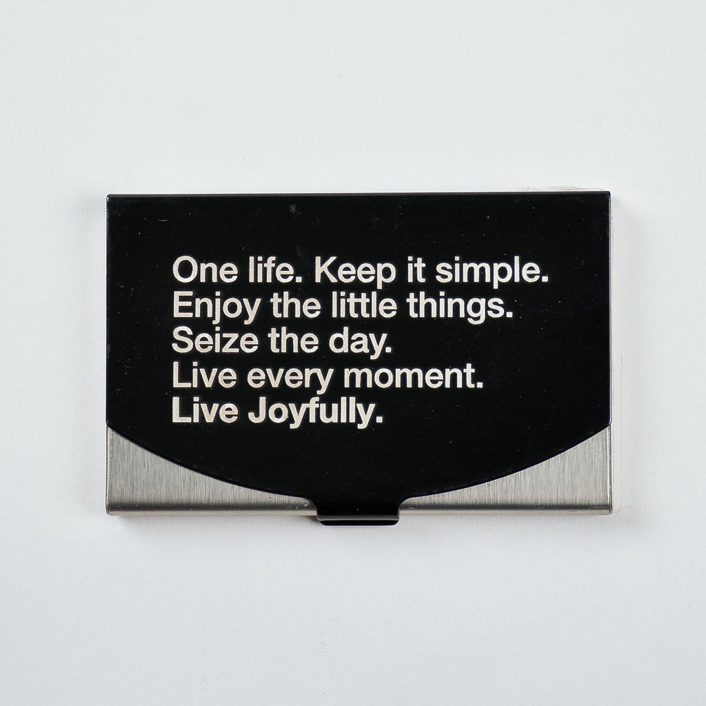 Manifesto black - Engraved Card Holder